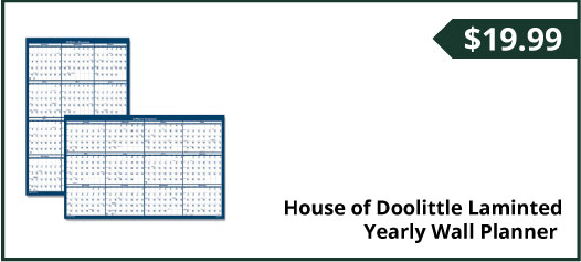 House of Doolittle Laminted Yearly Wall Planner